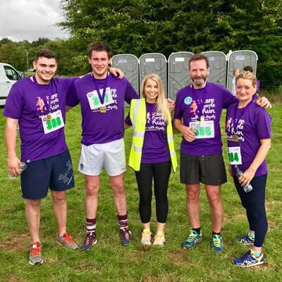 iCare Purple Run team challenge